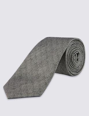 Текстурный галстук с добавлением шёлка M&S Collection T127180C
