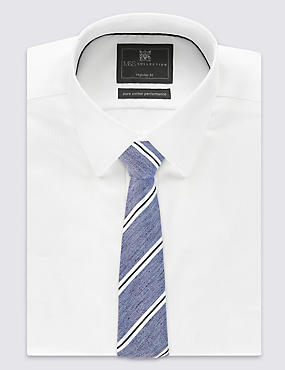 Modern Striped Tie, BRIGHT BLUE, catlanding