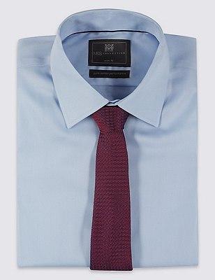 Pure Silk Contemporary Textured Tie, RED MIX, catlanding