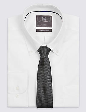 Cravate moderne 100% soie à motif texturé, GRIS FONCÉ, catlanding