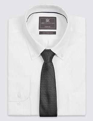 Pure Silk Contemporary Textured Tie, DARK GREY, catlanding
