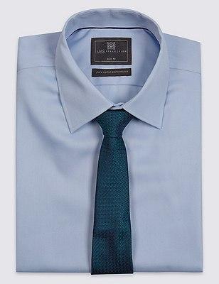 Pure Silk Contemporary Textured Tie, PETROL GREEN, catlanding