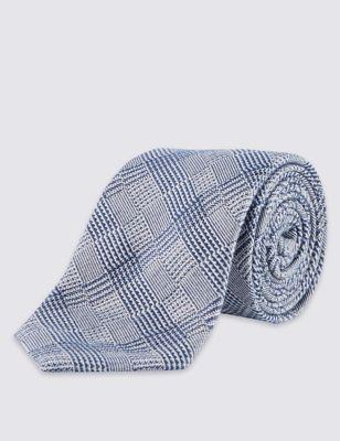 Шёлковый галстук в клетку