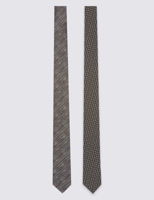 Галстук-скинни с геометрическим рисунком (2 шт)