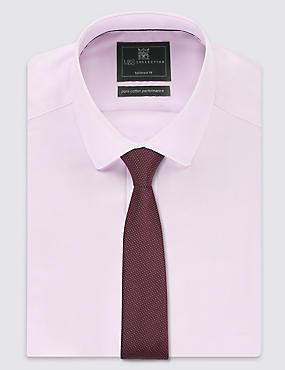 Skinny Fit Pindot Tie, RUM, catlanding