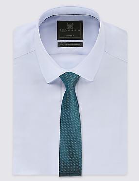 Skinny Fit Pindot Tie, TEAL, catlanding