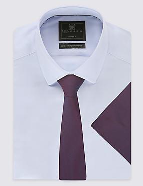 Nette stropdas van puur zijde, BOURGOGNE MIX, catlanding
