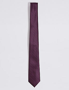 Textured Tie, NAVY MIX, catlanding