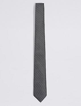 Textured Tie, BLACK MIX, catlanding