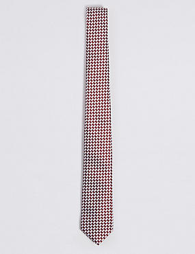 Textured Tie, RED MIX, catlanding