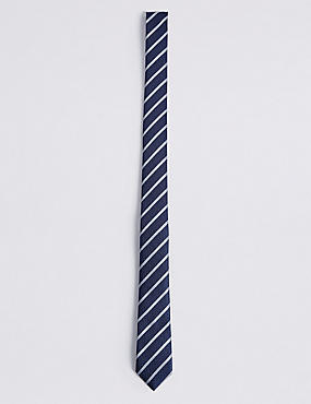 Striped Tie, NAVY MIX, catlanding