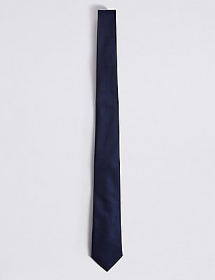 Textured Tie, MIDNIGHT, catlanding