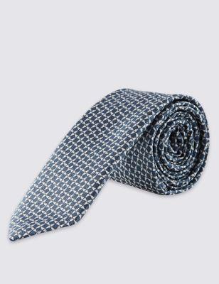 Узкий галстук с контрастным геометрическим принтом