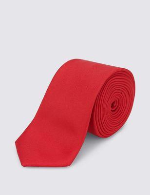 Однотонный галстук из фактурной ткани