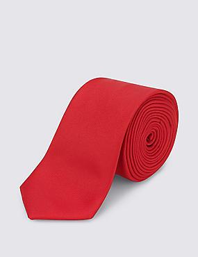 Cravate fine à motif texturé, ROUGE, catlanding