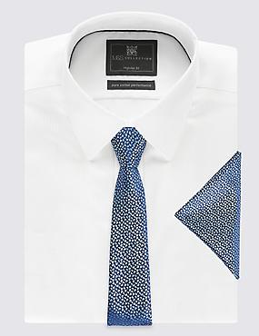 Squiggle Tie & Pocket Square Set, BLUE MIX, catlanding