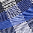 Pure Silk Checked Tie, BLUE MIX, swatch