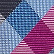 Pure Silk Checked Tie, FUCHSIA MIX, swatch