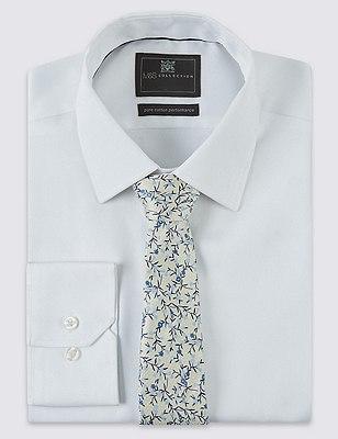 Pure Silk Floral Tie, YELLOW MIX, catlanding