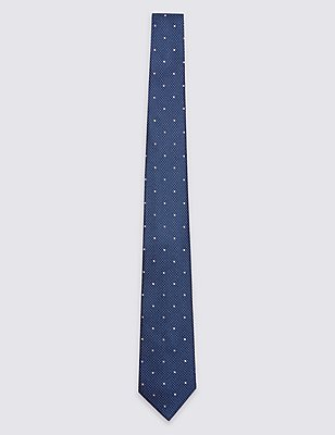Pure Silk Textured Spotted Tie, LILAC MIX, catlanding