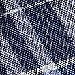 Pure Silk Checked Tie, NAVY MIX, swatch