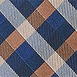 Pure Silk Gingham Checked Tie, CAMEL MIX, swatch