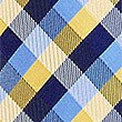 Pure Silk Gingham Checked Tie, YELLOW, swatch