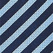 Pure Silk Striped Tie, PERIWINKLE, swatch