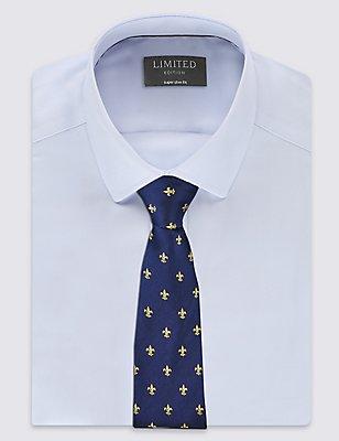 Cravate 100% soie à imprimé géométrique, OR ASSORTI, catlanding