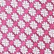 Cravate 100% soie à imprimé géométrique, ROSE MAGENTA, swatch