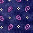 Pure Silk Geometric Print Tie, MAGENTA MIX, swatch