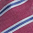 Pure Silk Striped Tie, MAGENTA, swatch