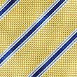 Pure Silk Striped Tie, YELLOW, swatch