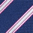 Pure Silk Striped Tie, MAGENTA MIX, swatch