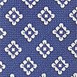 Cravate 100% soie à imprimé géométrique, BLEU MARINE, swatch