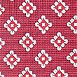 Cravate 100% soie à imprimé géométrique, BOURGOGNE ASSORTI, swatch