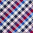 Pure Silk Gingham Tie, MAGENTA, swatch