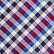 Cravate 100% soie à carreaux Vichy, MAGENTA, swatch
