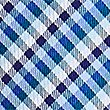 Pure Silk Gingham Tie, BLUEBELL, swatch