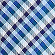 Cravate 100% soie à carreaux Vichy, CAMPANULE, swatch