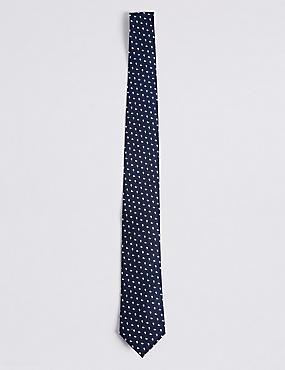 Cravate 100% soie à imprimé géométrique, CIEL, catlanding