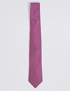 Textured Tie, PINK, catlanding