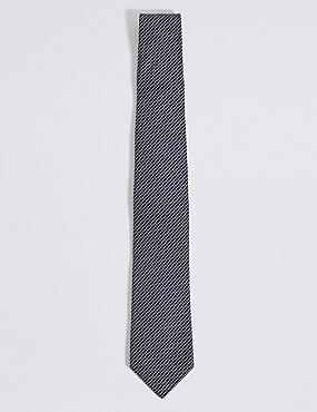 Textured Tie, NAVY, catlanding