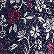 Cravate 100% soie à fleurs, BLEU MARINE, swatch