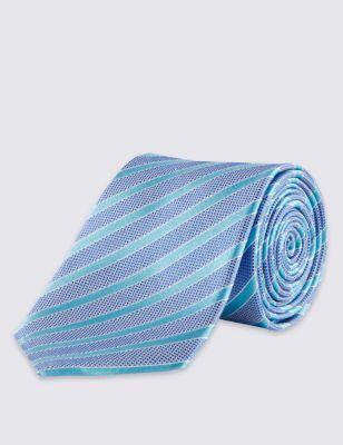 Шёлковый галстук в диагональную полоску