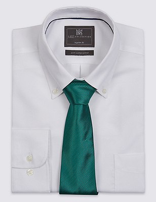 Plain Tie with Stain Resistance, FOREST GREEN, catlanding