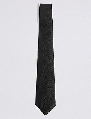 Twill Tie, BLACK, catlanding