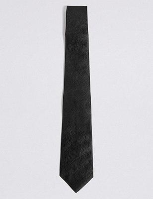 Plain Tie, BLACK, catlanding