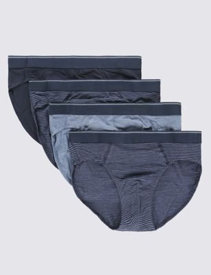 Мужские трусы-слипы Cool & Fresh™ из эластичного хлопка (4 шт.) M&S Collection T142606S