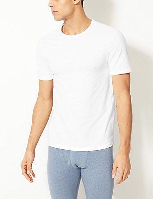2er-Pack Cool & Fresh™-Unterhemden aus Stretchbaumwolle, WEISS, catlanding